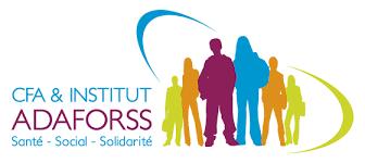 Logo de CFA et institut ADAFORSS santé social Solidarité