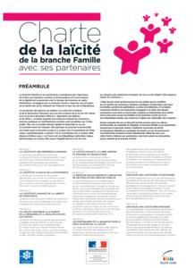 photo de la charte de la laïcité logo rose de personnages