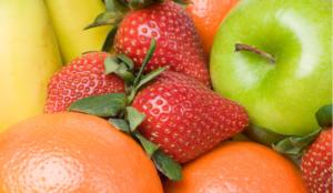 fraise pomme et oranges