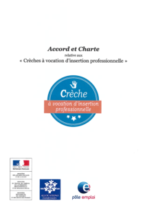 visuel de la charte crèches à vocation d'insertion professionnelle
