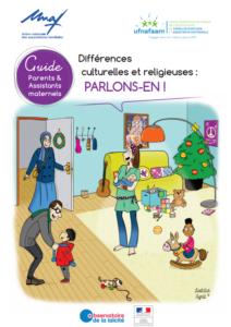 Dessin de parents avec des enfants de cultures et religions différentes
