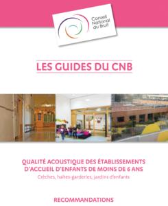 Couverture du guide du Conseil National du Bruit