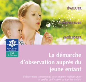 Couverture du guide démarche d'observation auprès des jeunes enfants