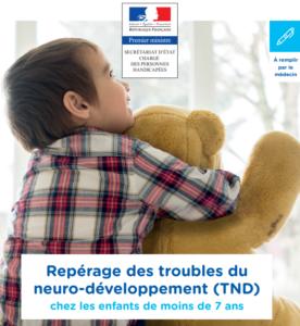 couverture du guide répérage des troubles neuro-développement chez les enfants de moins de sept ans