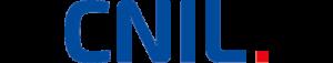 logo de la cnil en bleu avec un point rouge