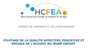 fiche pilotage de la qualité affective éducative et sociale de l'accueil du jeune enfant HCFEA