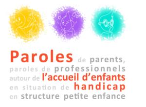 Logo paroles de parents et pro autour de l'accueil des enfants en situation de handicap
